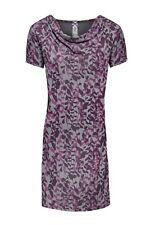 Mistral Jenna cowl neck tunic dress size 12, grey/burgundy, BNWT