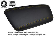 YELLOW STITCHING LEATHER ARMREST LID SKIN COVER FITS KIA OPTIMA 2012-2015