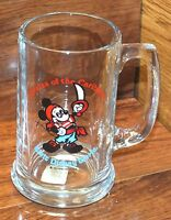 Walt Disney Productions Pirates of the Caribbean Mickey Mouse Glass Mug / Cup!