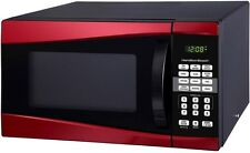 Compact Microwave for Dorm Room 0.9 Cu Ft 900W Back to School Hamilton Beach Red