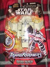 Star Wars Transformers 2006 Emperor Palpatine Imperial Shuttle Hasbro OOP RARE