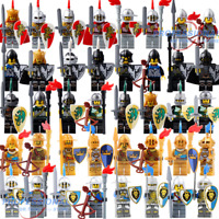 8pcs Knights Gladiatus Military Army Soldier Captain Minifig Castle Minifigures