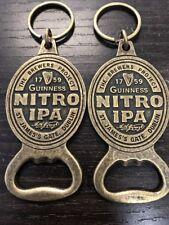 2x New GUINNESS  NITRO IPA BOTTLE OPENER BRASS with KEY RING MINT