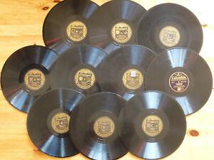 10 BING CROSBY Schellackplatten 78N Schellack Grammophon Brunswick Film Tonfilm+