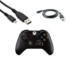 5m Micro USB Cable cargador para controlador inalámbrico de Xbox One Jugar Y Carga Negro