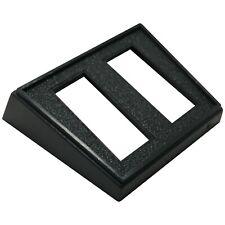 """(5) Double Rocker Switch Rectangle Black Mounting Panel 1-1/8"""" X 1/2"""" Hole - UK"""