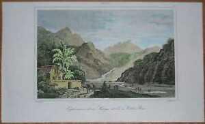 1837 print EXPLOITATION OF GOLD, VILA RICA DO OURO PRETO, MINAS GERAIS, BRAZIL