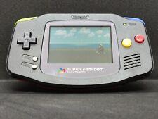 Modified Nintendo Gameboy Advance GBA Super Famicom Snes Style Multi Coloured