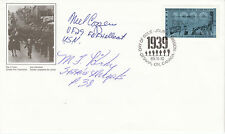 Canadian FDC  WW11 Stamp Signed 2 USA Fight Pilots Cozzens &  Kirby