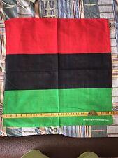 Afro Rasta Pan African Black Pride Red Black & Green Bandana