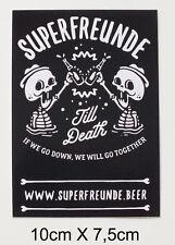 Superfreunde CraftBeer Berlin Bier Skateboard  Aufkleber Sticker(S127)