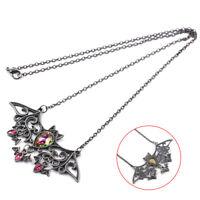 Halloween Bat Necklace Gothic Pendant Necklaces For Girls Vintage Alloy 1Pc
