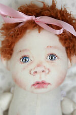 Hand painted cloth doll by artist Dayle McKinney. Adorable!