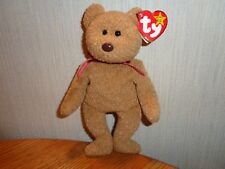 RARE Vintage Ty Beanie Baby PVC Curly Bear With Many Errors - Style 4052