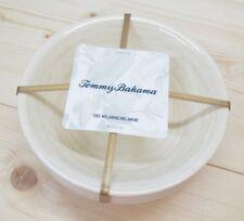 Tommy Bahama Bowls Melamine Swirl Beige 4 Piece Salad Soup Dessert Boat Gift