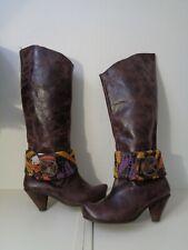 Originales bottes cuir marron effet vieilli MISS IP pointure 38
