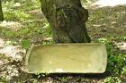 HUGE 39  ANTIQUE PRIMITIVE FARM WOODEN CARVED BREAD DOUGH BOWL TROUGH TRENCHER