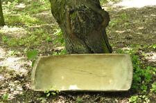 """HUGE 39"""" ANTIQUE PRIMITIVE FARM WOODEN CARVED BREAD DOUGH BOWL TROUGH TRENCHER"""