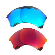2 Pair Blue&Midnight Sun Replacement Lenses for-Oakley Flak Jacket XLJ Polarized