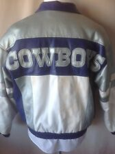 Dallas Cowboys Jacket Full-zip Game Day Thin Faux Leather Puffer Mens M