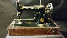 Vintage 1920's Singer Sewing Machine w/ Bentwood Case & Knee Bar