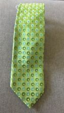 Ted Baker of London Green and Blue Circle Geometric Men's 100% Silk Neck Tie New