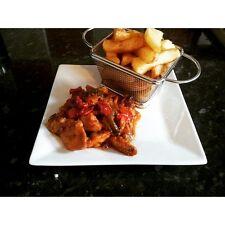 Mini Chrome Chip Fries Fryer Serving Food Presentation Basket by Kitchen Stars