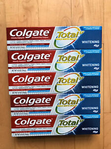 Colgate TOTAL SF Whitening Toothpaste 4.8 Oz Lot Of 5