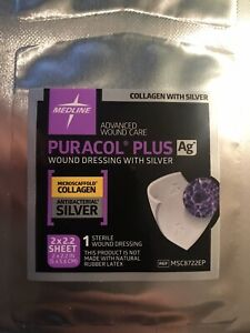 NEW - Puracol Plus AG+ Collagen Wound Dressing with Antibacterial Silver MEDLINE