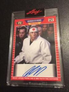 2021 Leaf Pro Set Georges St-Pierre Auto Autograph Encased UFC MMA Card !!!