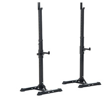 NEW Weights Bar Barbell Squat Stand Stands Barbell Rack Spotter Home Gym Gear