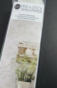 RoomMates RM Tin Tile White Silver Peel & Stick Wallpaper RMK11209WP NEW
