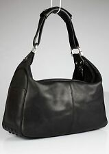 Authentic TOD'S Shoulder Bag Hobo Genuine Leather D-style Made In Italy
