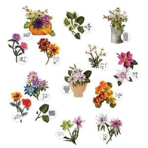 ELIZABETH CRAFT DESIGNS GARDEN NOTES FLOWER DIES LOTS OF VARIETIES TO CHOOSE NEW