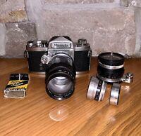 Japan Miranda No. 657345 SRL 35mm Film Camera + Soligor & Kodak Ektanar Lens