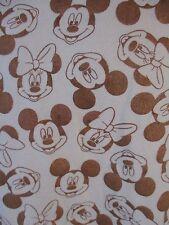 Mickey Minnie Mouse Disney Juniors XL Brown Bronze Long Sleeve Shirt CB42i