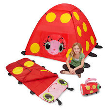 Mollie Kids Tent, Sleeping Bag, and Flashlight by Melissa Doug Indoor or Outdoor