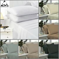 Fitted Sheets 100% Egyptian Cotton Percale 200 Thread Count 25cm Deep S, D, K