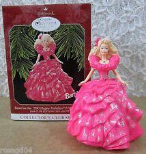1990 Happy Holidays Barbie Doll Hallmark Keepsake Ornament Collector Club Series
