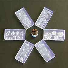 6 un. Molde Acrílico 3D Kit durable para Decoración Nail Art weomen Diseño Silicona