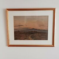 English School, Early 20th Century Mountain Landscape Watercolour, Signed FBD 21