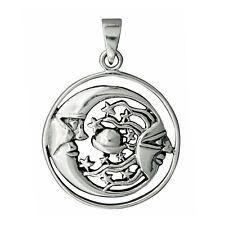 6,2g SOLID 925 Sterling Silver Sun Moon Saturn Star Planets Pendant - BELDIAMO
