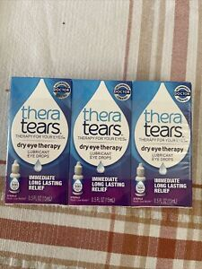 "3 ""Thera Tears"" Dry Eye Therapy Lubricant Drops, 15ml Bottles, Sealed Boxes 2022"