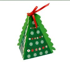 Small Christmas Tree Favour/Gift Boxes - 75x75x75mm - 105mm height - Pack of 10