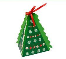 Piccolo albero di Natale favore/Scatole Regalo - 75x75x75mm-altezza 105mm-Confezione da 10