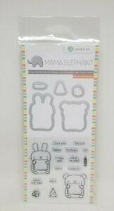 Bunny Bear Clear Acrylic Stamp Die Set Hampton Art Mama Elephant SC0767