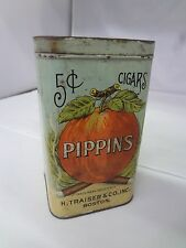 VINTAGE ADVERTISING PIIPPINS LITTLE CIGARS TOBACCO  SQUARE CANISTER 82-Y