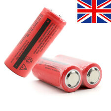 2pcs 26650 Rechargeable 6000mAh 3.7V Li-ion Flashlight Torch replacement Battery
