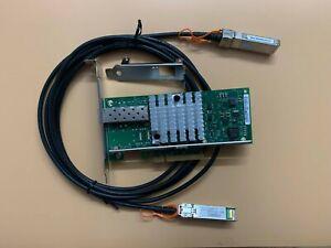 X520-DA1 INTEL Dual 10GB High PCIE SFP+ w/ 1x DAC Direct Attach Cable Included
