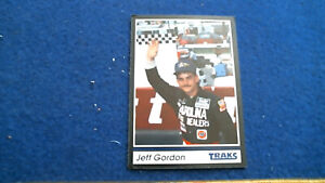 RARE NASCAR CUP Hall of Famer JEFF GORDON 1991 TRAKS #1 Mint